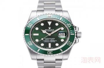 劳力士绿水鬼二手表能卖多少钱