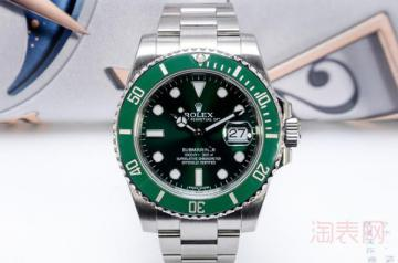 二手劳力士绿水鬼手表的回收价格高吗