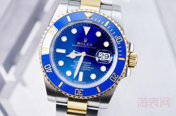 劳力士蓝间金手表回收价格是多少
